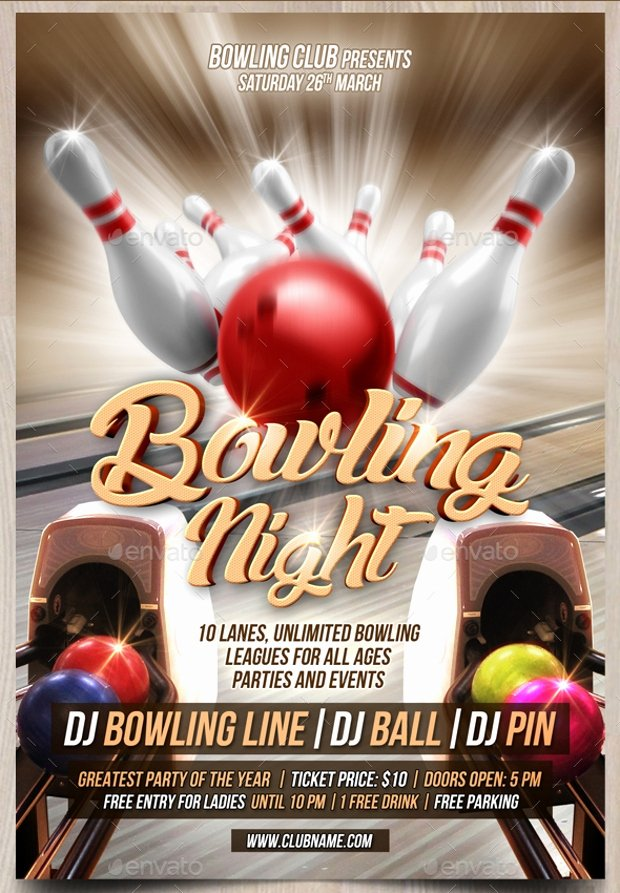 The Gallery for Bowling Flyers