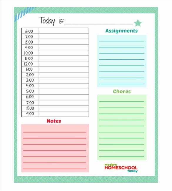 The Gallery for Daily Planner Excel