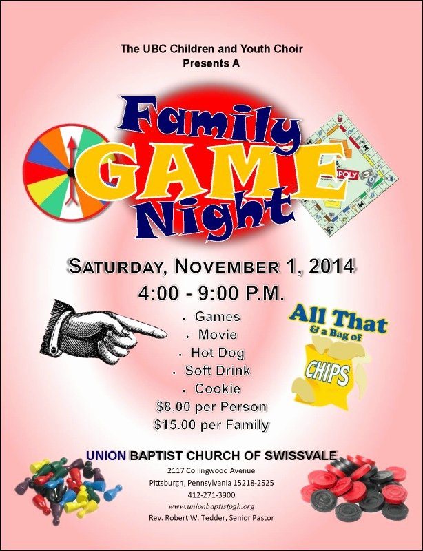 The Gallery for Family Game Night Flyer Template