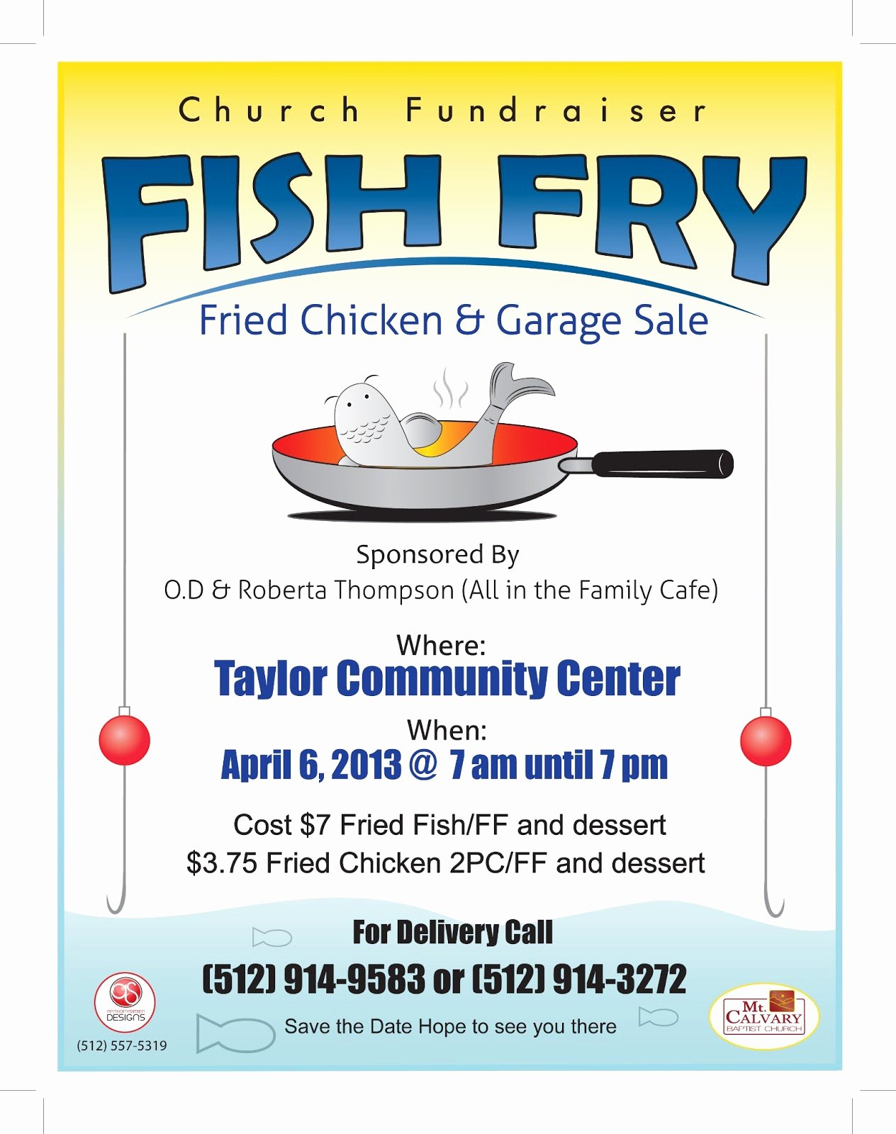 The Gallery for Fish Fry Flyer Template