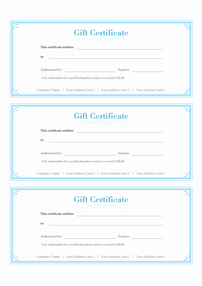The Gallery for Free Gift Certificate Template