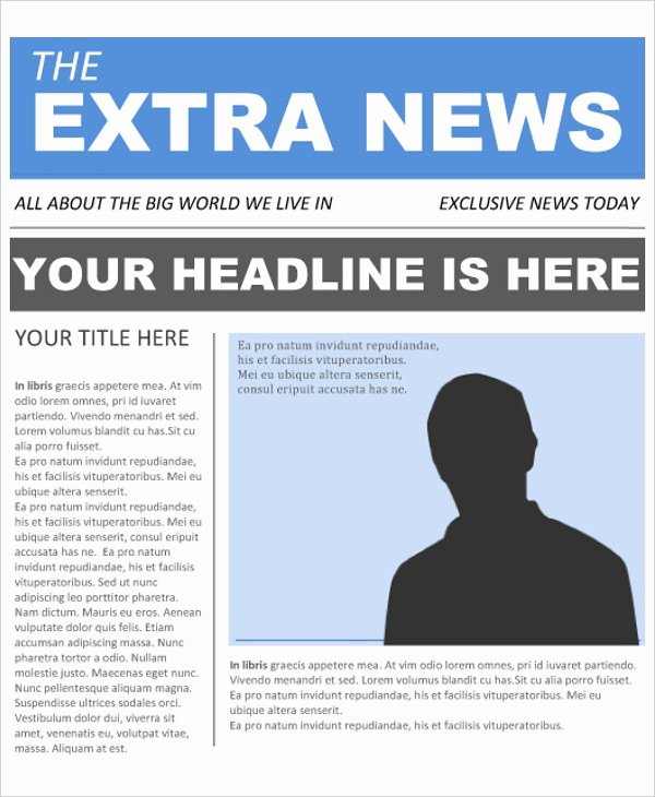 The Gallery for Newspaper Template for Kids Pdf