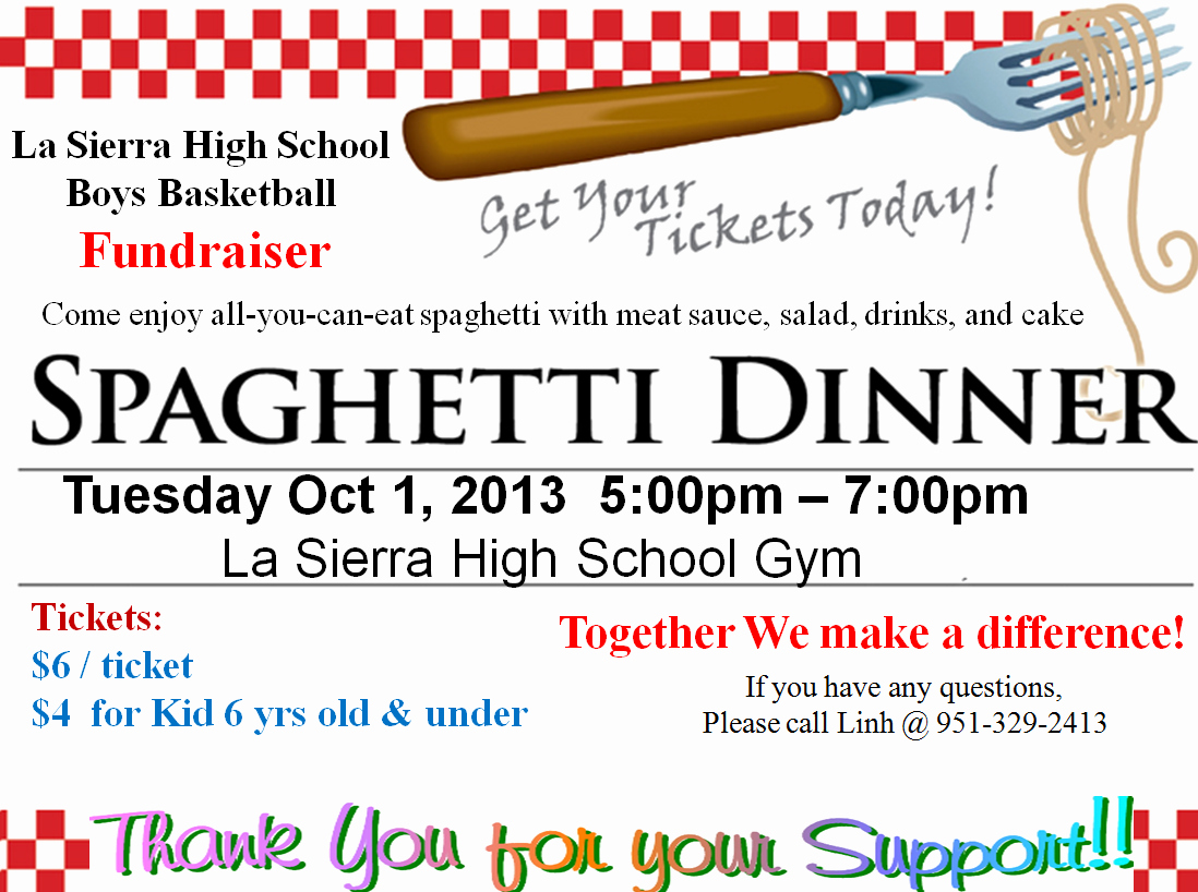 The Gallery for Spaghetti Dinner Fundraiser Ticket