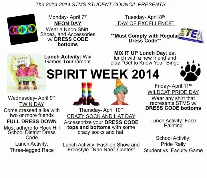The Gallery for Spirit Week Flyer