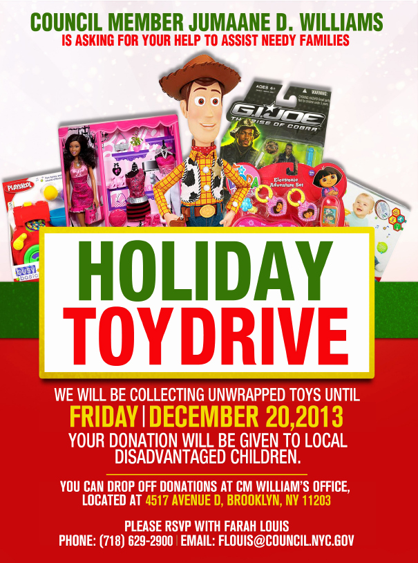 collectiontdwn toy drive flyer template free