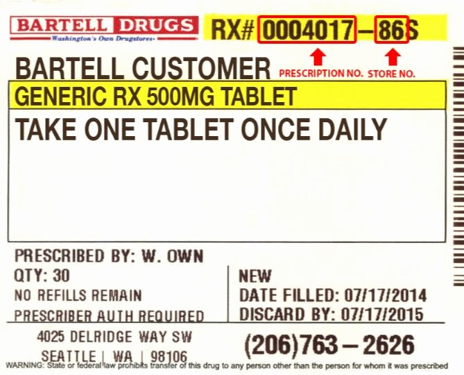 The Gallery for Walgreens Prescription Bottle Label
