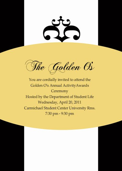 The Golden O S Annual Activity Awards Ceremony Line