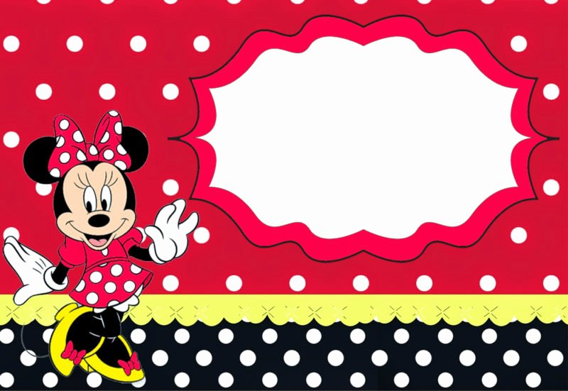 The Largest Collection Of Free Minnie Mouse Invitation