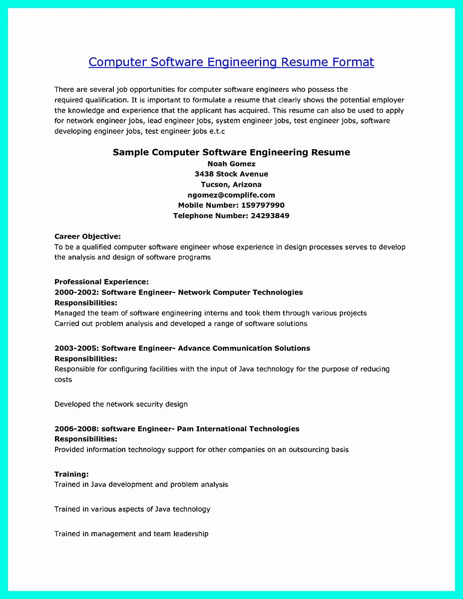 The Perfect Puter Engineering Resume Sample to Get Job soon