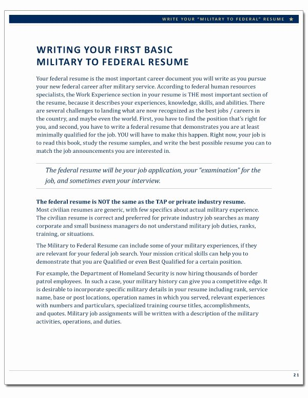 The Plete Guide to Writing A Federal Resume Best