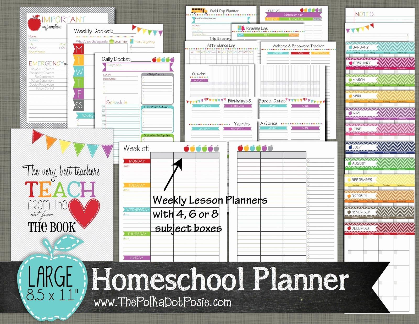 The Polka Dot Posie New Teacher & Homeschool Planners