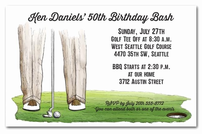 The Putt Golf Invitations Golf Outing Invitations
