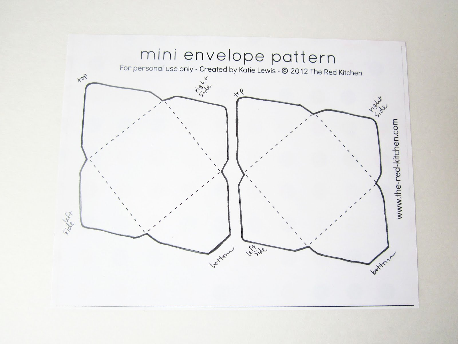 The Red Kitchen Diy Mini Envelopes Free Printable
