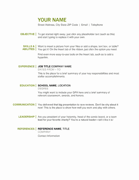 The Ultimate List Of Simple Free Resume Templates for