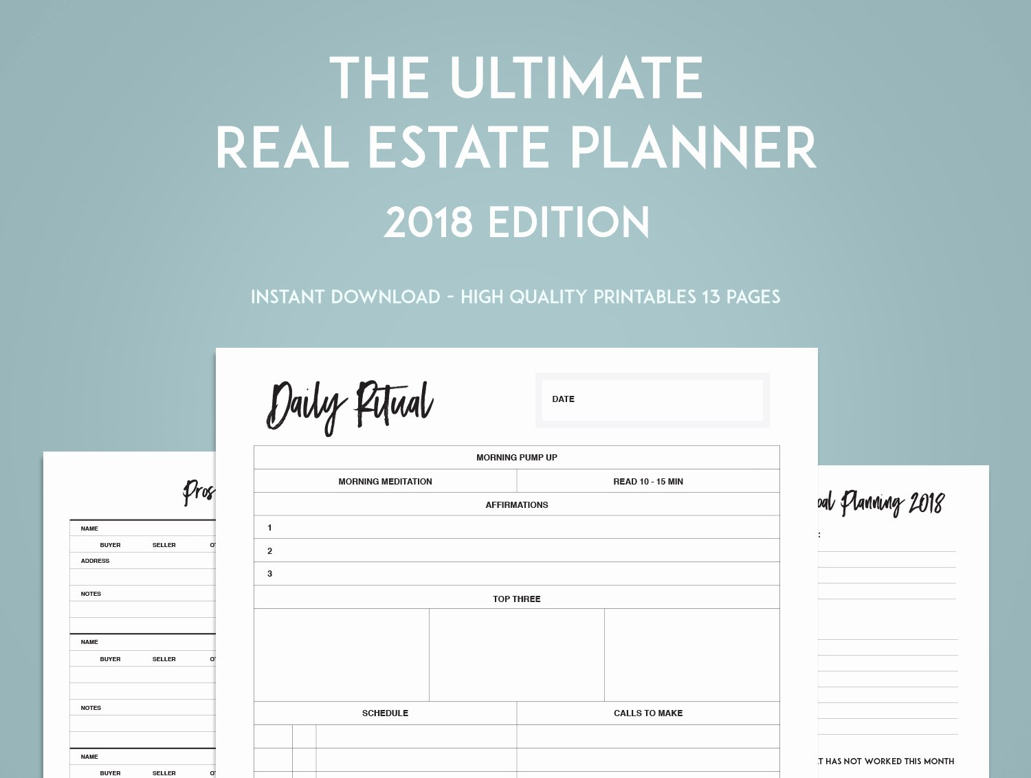 The Ultimate Real Estate Goal Planner Sweet Paper Trail