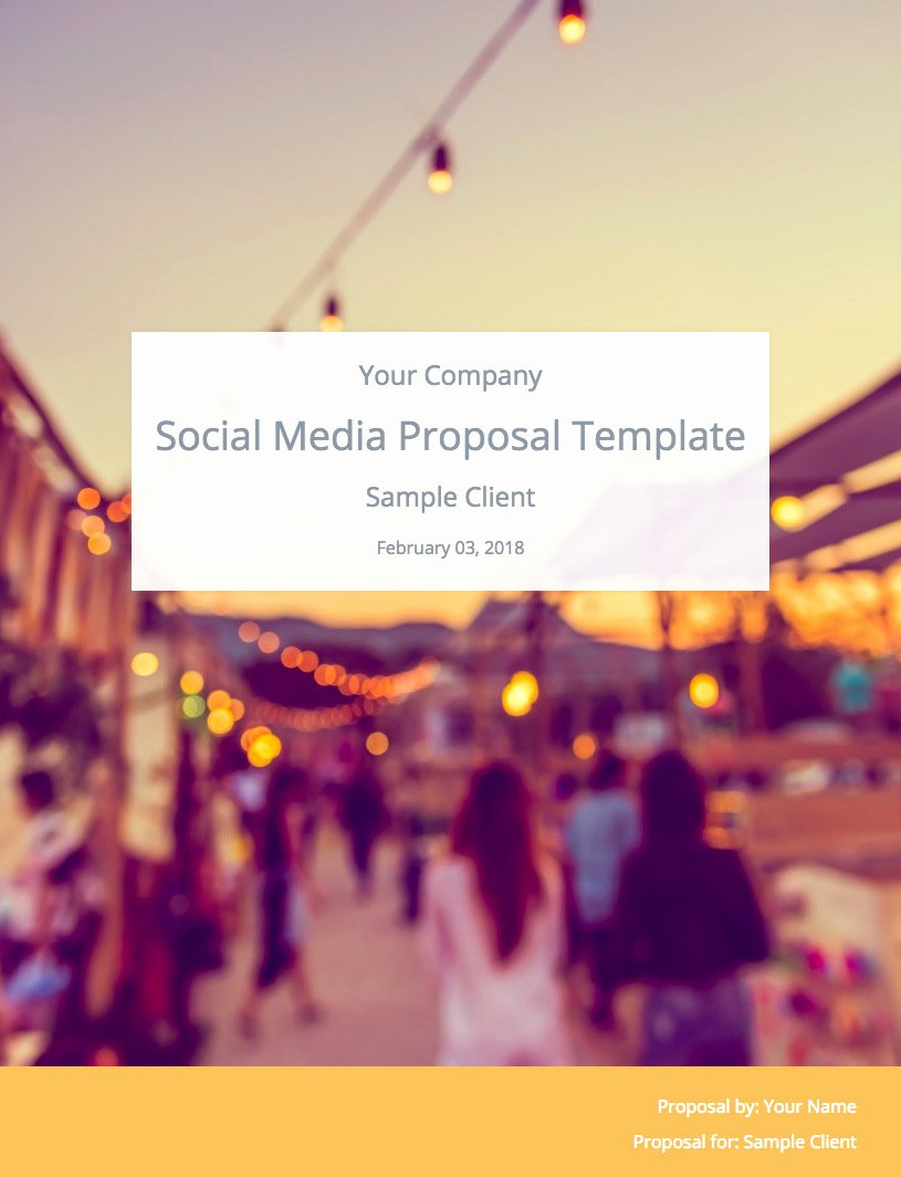 The Ultimate social Media Proposal Template Free Download