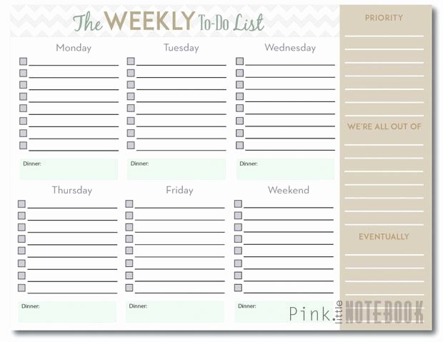 The Ultimate Weekly to Do List Free Printable