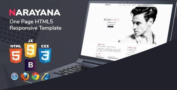 Themeforest Narayana E Page HTML5 Responsive Template