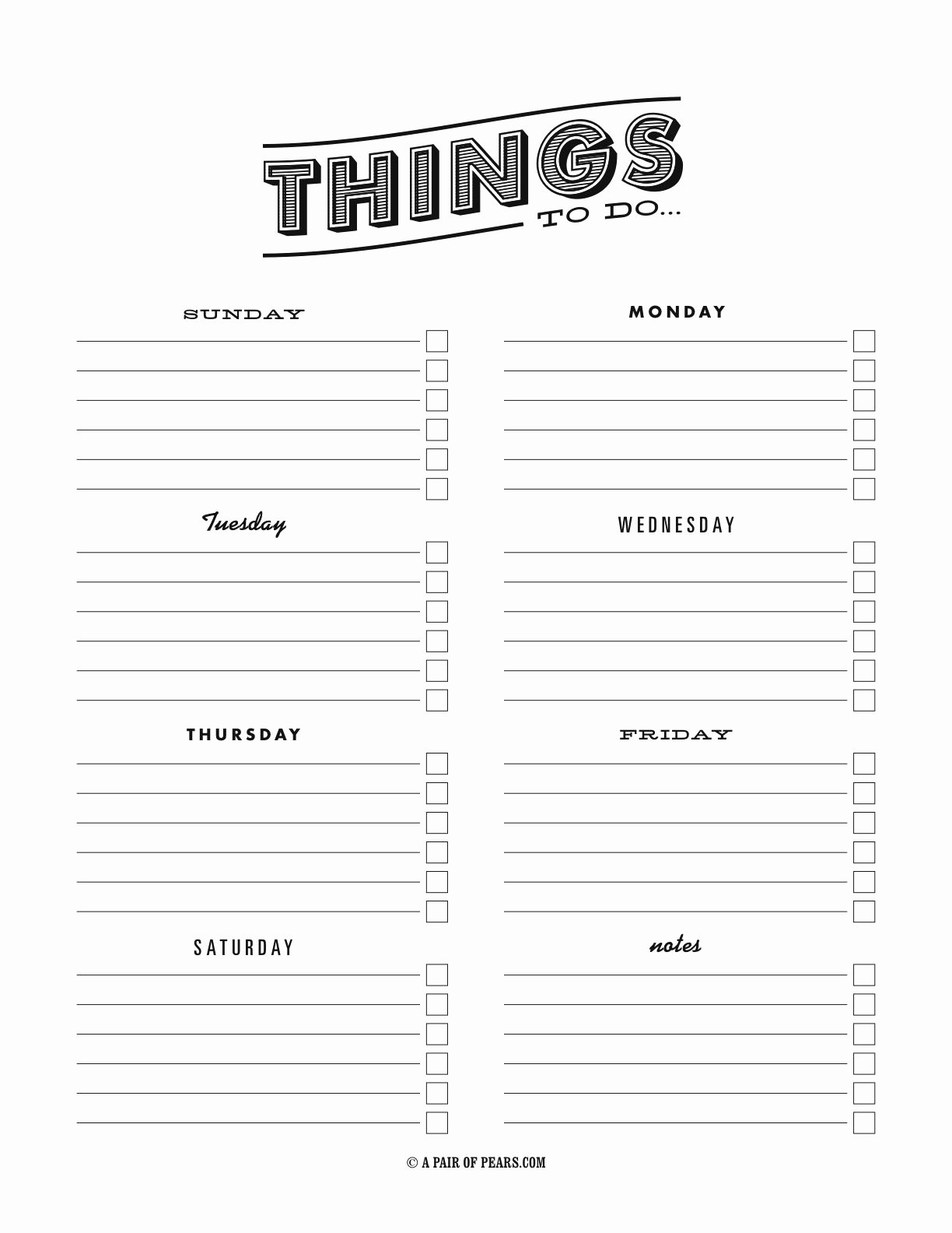 Things to Do Template Pdf Fancy to Do List