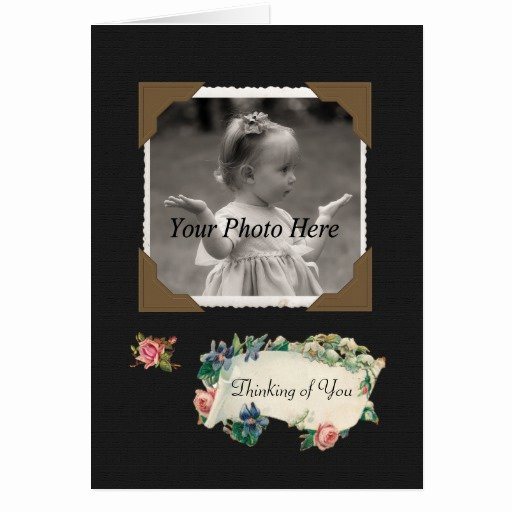 Thinking Of You Vintage Scrapbook Roses Card