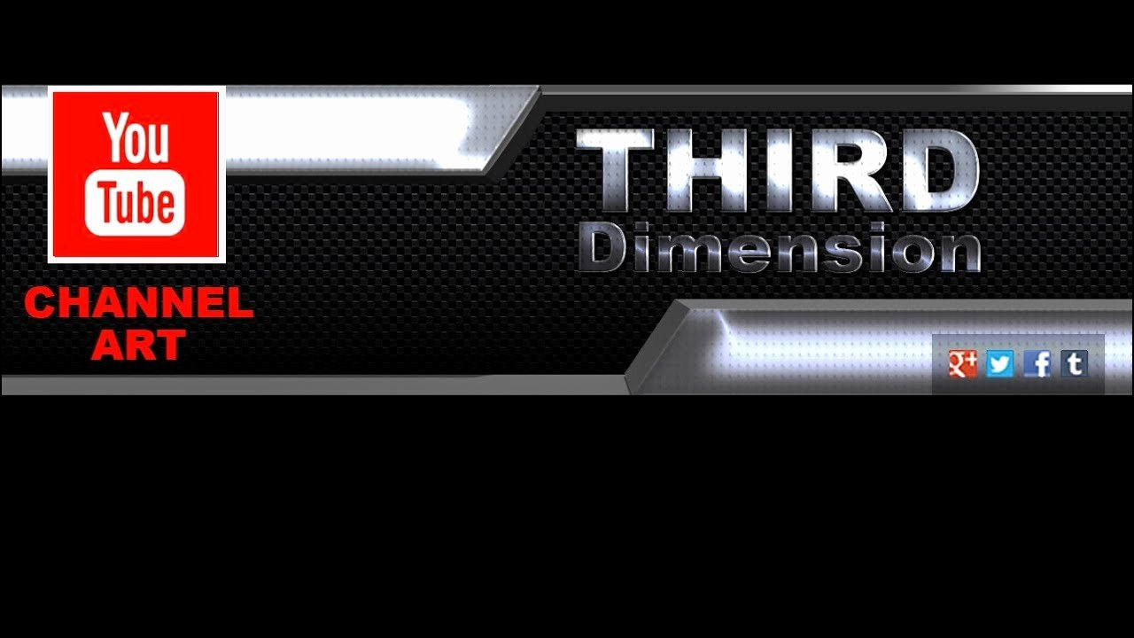Third Dimension Channel Art Template for Shop