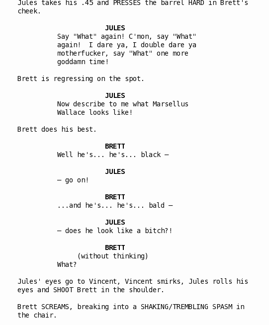 This is An Example Of A Movie Script Writing Was Never My