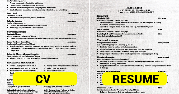 This is the Difference Between Cv and Resume I M A