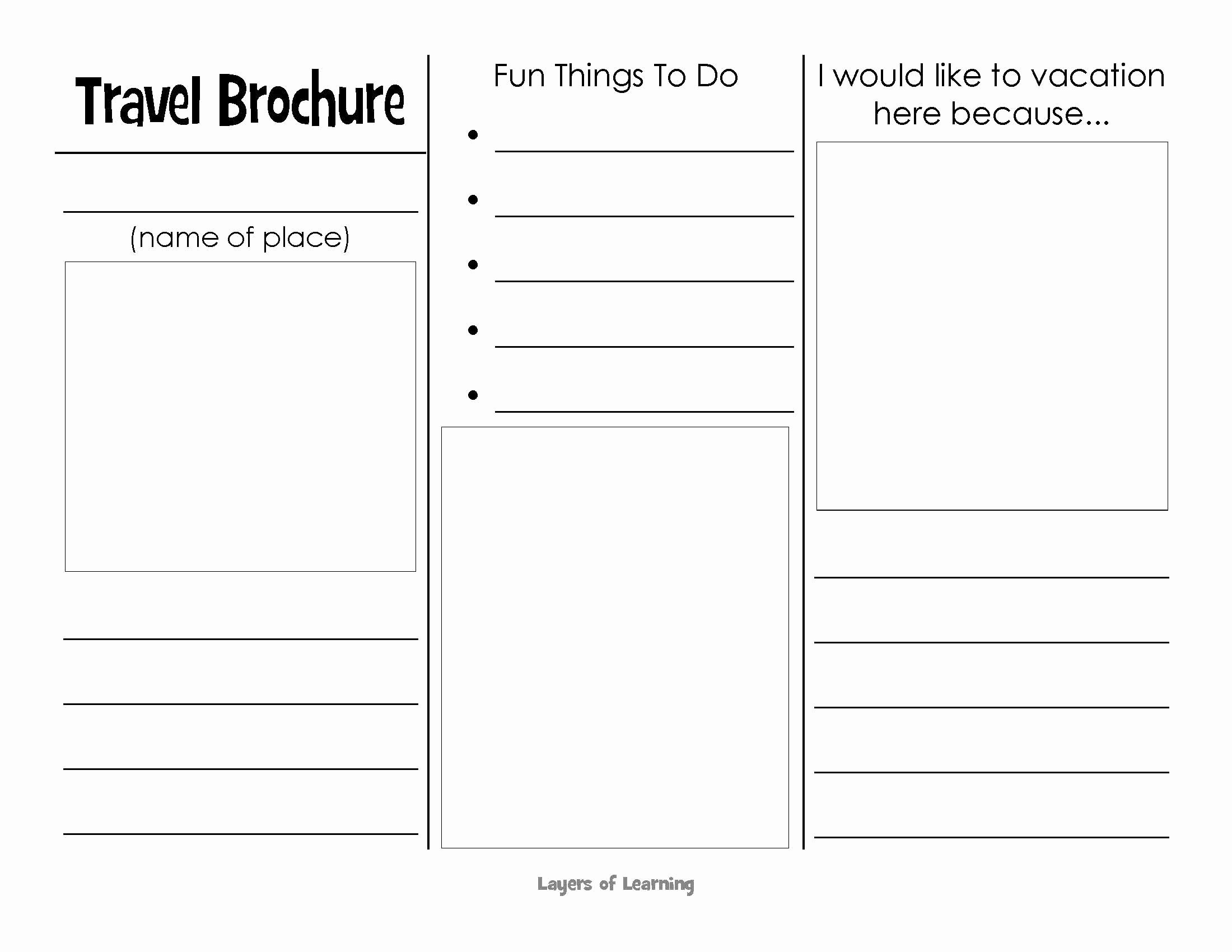 This Printable Travel Brochure Will Help Kids organize