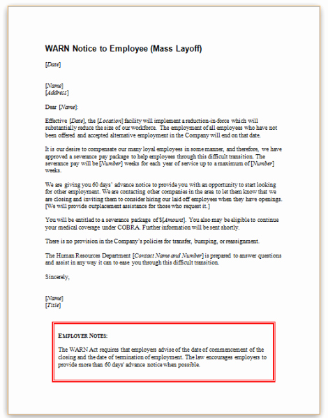 This Sample Letter Informs Employees Of Employers Covered