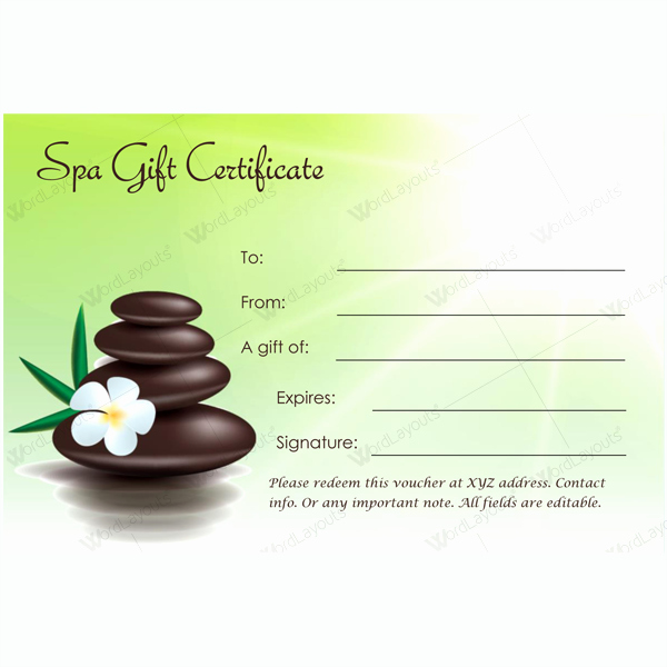 This Spa T Certificate Template is Designed In