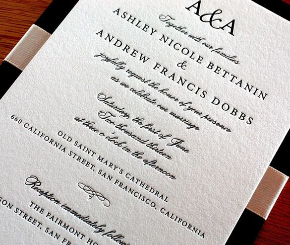 This Traditional Wedding Invitation Was Designed with A