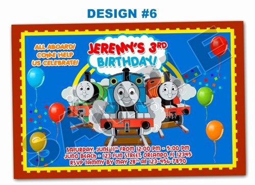 Thomas the Tank Train Birthday Party Invitations