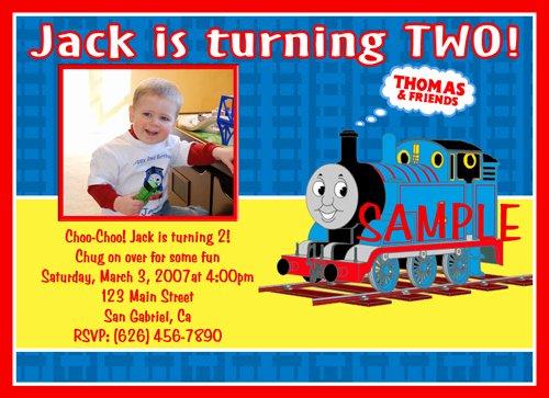 Thomas the Train Birthday Invitations Ideas – Bagvania