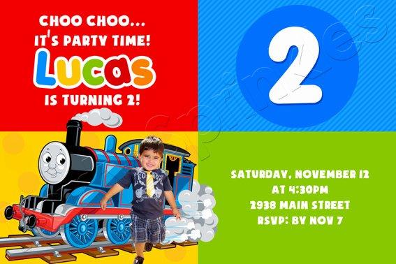 Thomas the Train Birthday Invitations Ideas for Kids