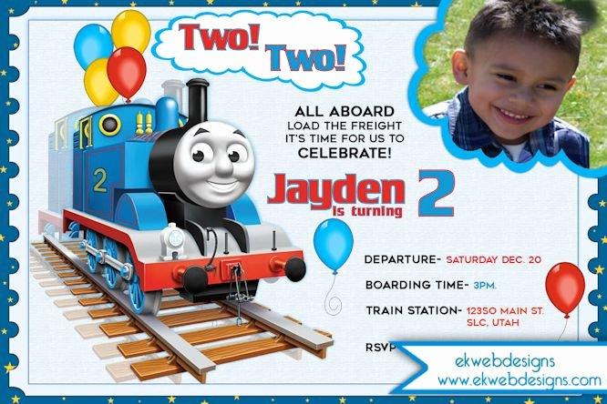 Thomas the Train Choo Choo Birthday Invitation Two Two