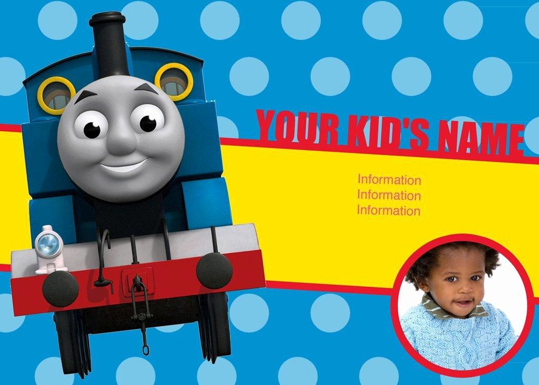 Thomas the Train Personalized Invitations