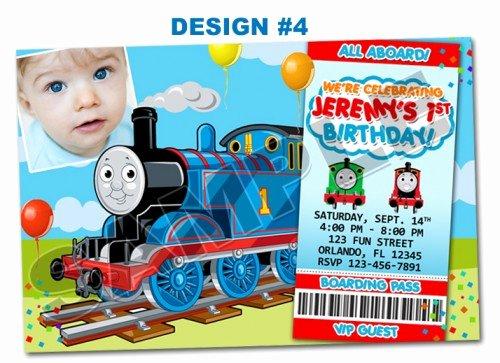 Thomas the Train Tank Birthday Party Invitations