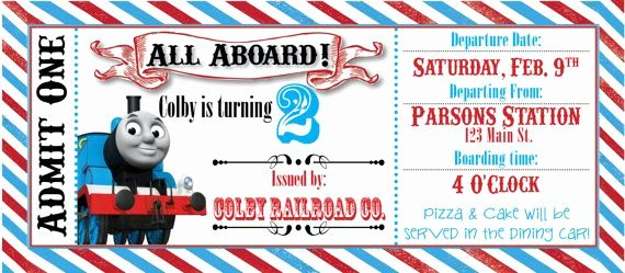 Thomas the Train Ticket Party Invitation by