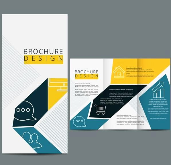 Three Fold Brochure Template Vector Design