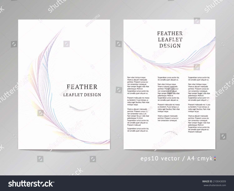 Threecolumn Double Sided Vector Leaflet Brochure Stock