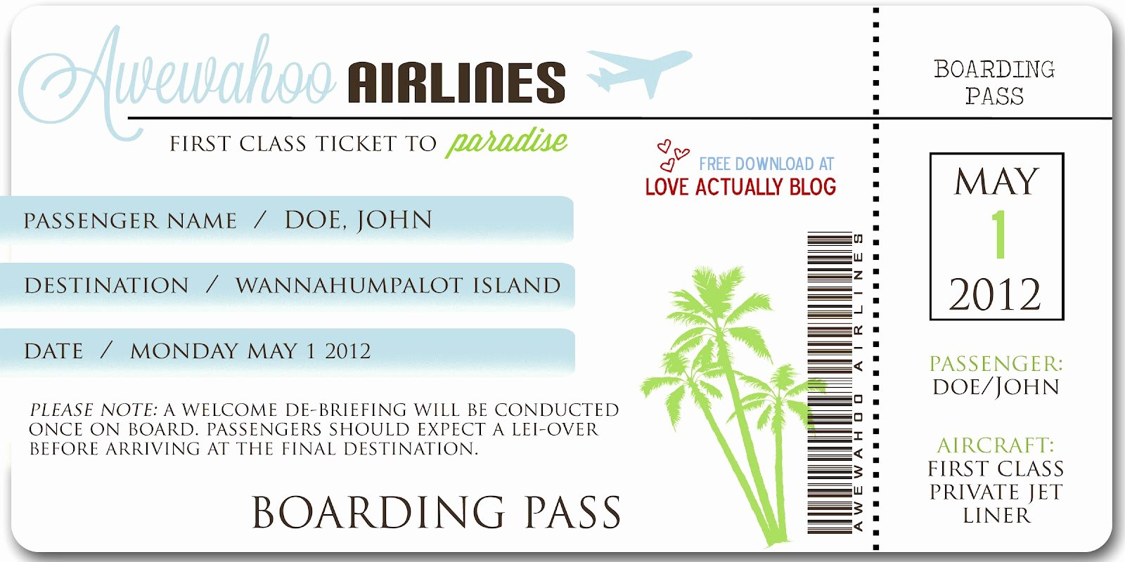 Ticket Boarding Pass Template Bing Images