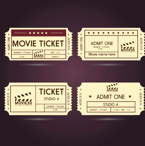 Ticket Free Vector 159 Free Vector for
