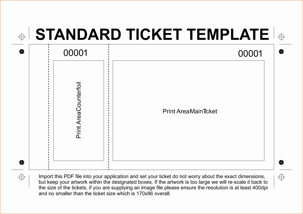 Ticket Template Word