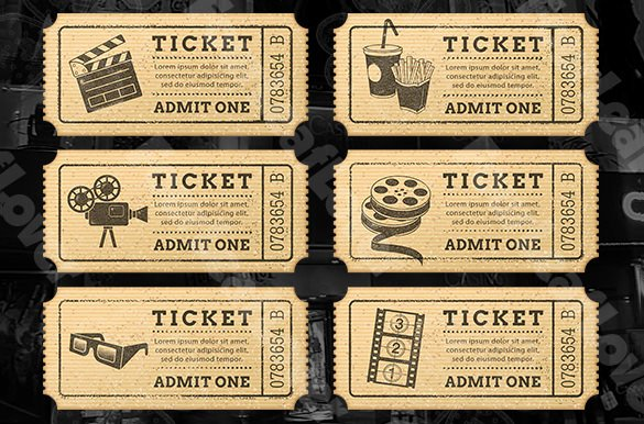 Ticket Templates – 99 Free Word Excel Pdf Psd Eps