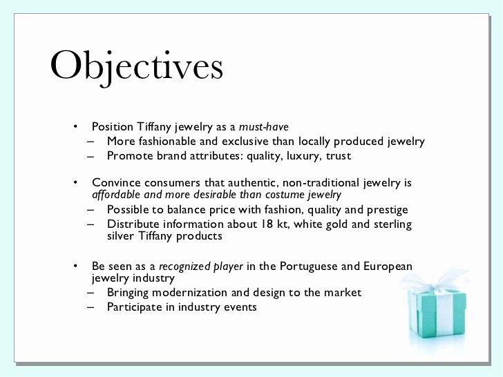Tiffany & Co Pr Plan