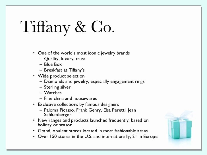 Tiffany & Co Pr Plan