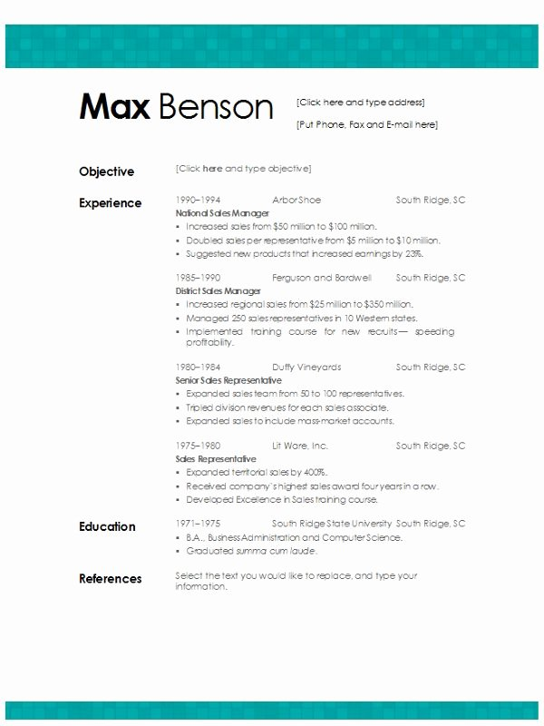 Tiled Aqua Resume Template Download Word format