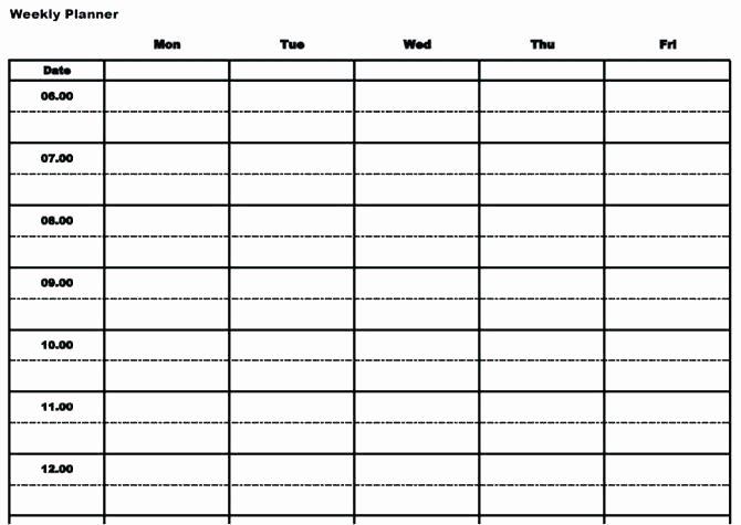 Time Blocking Template Calendar – Chookies