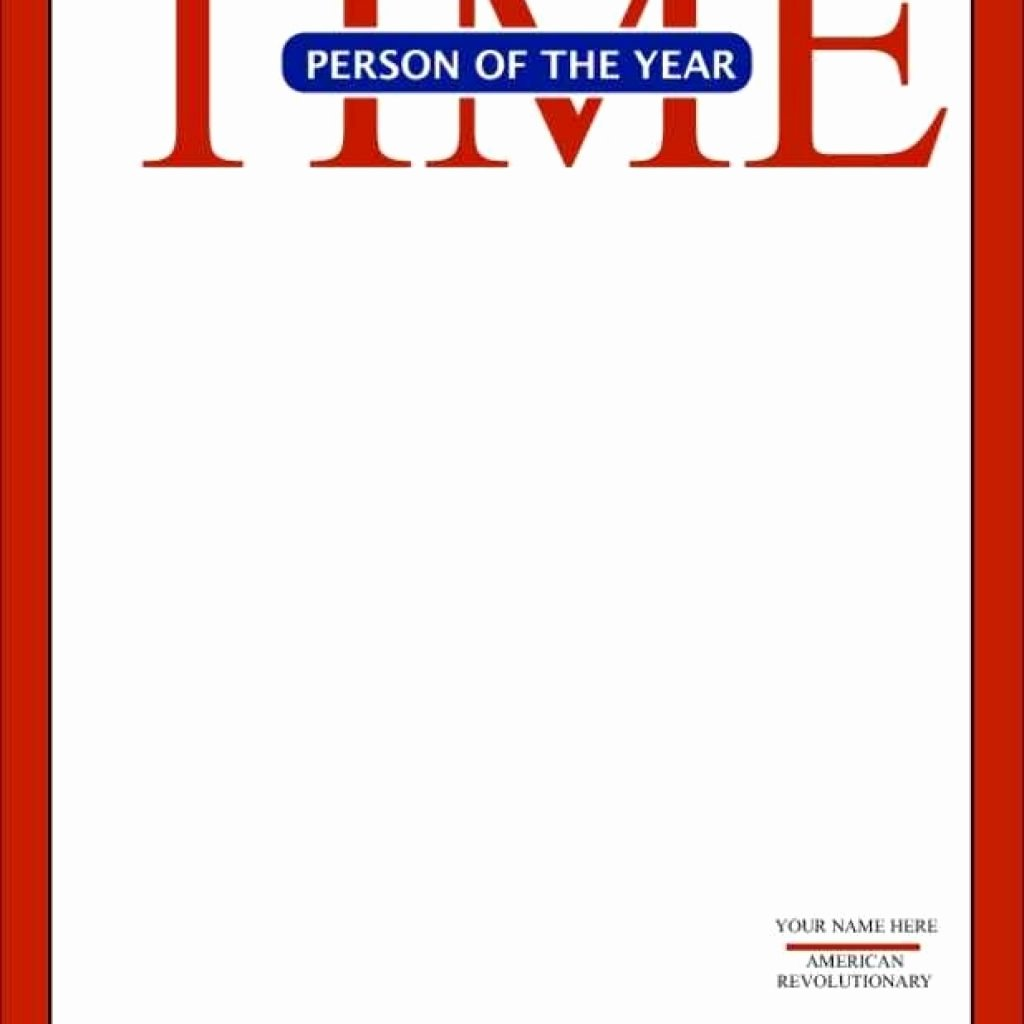 Time Magazine Cover Template Beautiful Template Design Ideas