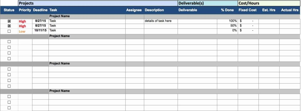 Time Management Spreadsheet Template Timeline Spreadsheet